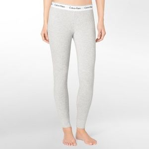 Calvin Klein Gray Cotton Leggings